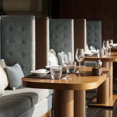 Photo by PARK HYATT BUSAN 파크 하얏트 부산 in Park Hyatt Busan - 파크하얏트부산. Image may contain: people sitting, table and indoor